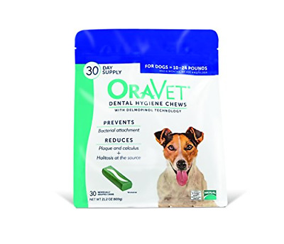 OraVet Dental Hygiene Chews for Small Dogs 10-24lbs 30 count