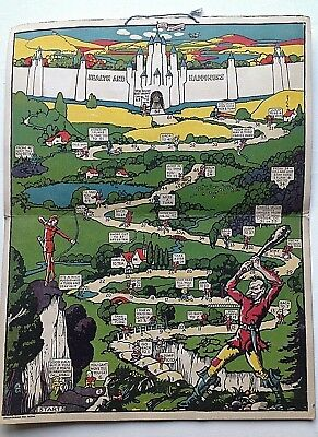 The Ivory Castle Board Game 1930s  D&W Gibbs Dentifrice Toothpaste Advertising