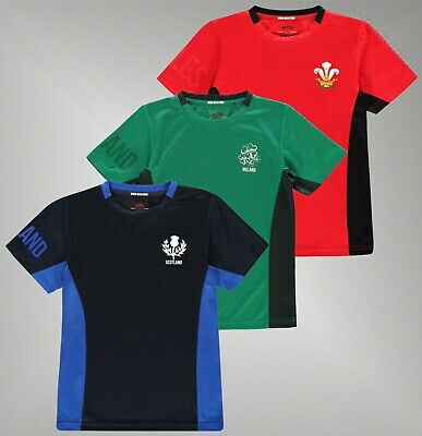 Boys Team Rugby Short Sleeves Printed Club Crest Top Poly T Shirt Sizes Age 7-13