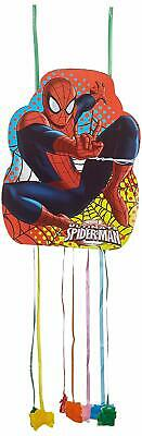 Marvel Ultimate Spider-Man Pull String Pinata For Birthday Party 33 x 46cm
