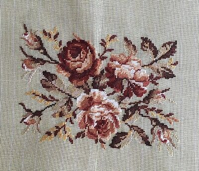 Antique Roses Oblong Preworked Needlepoint
