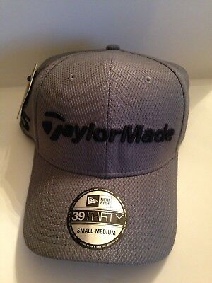 134b35c5fed TaylorMade Golf Mens Tour Authentic New ERA 39Thirty Stretch Fit hat S M  Gray