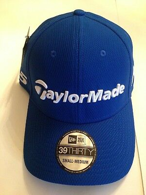21ee3c5b79a TaylorMade Golf Mens Tour Authentic New ERA 39Thirty Stretch Fit hat S M  Blue