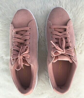 2cca7be4bfc PUMA VIKKY SOFTFOAM Pink Suede Women Sneakers Size 8.5 US - $20.00 ...