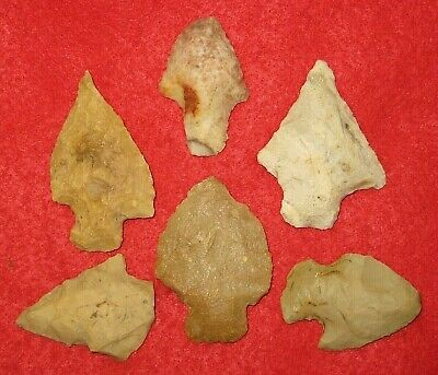 Authentic Native American artifact arrowhead 6) Arkansas points BN94