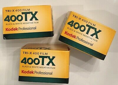 Kodak Professional Tri-X 400 Film 400TX Black & White Negative Film * 3 Pack *