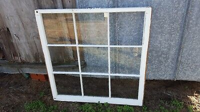 Architectural Salvage RECLAIMED ANTIQUE WINDOW PANE FRAME 40x40 9 PANE PINTEREST
