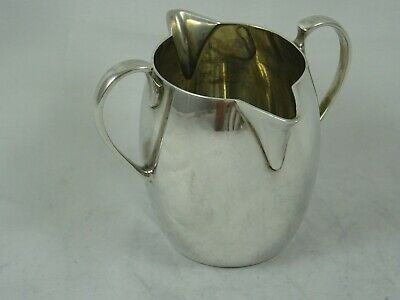 QUALITY solid silver `DOUBLE LIP` MILK JUG, 1927, 120gm