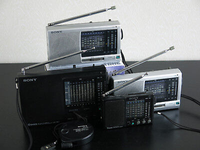Collection (5) of SONY ICF-SW Portable Short Wave Radio's