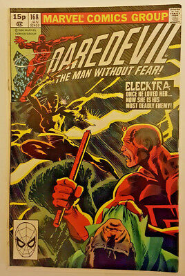 Daredevil #168 - Frank Miller - 1st appearance of Elektra (Marvel Comics 1980)