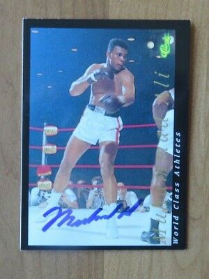 1992 Classic Muhammad Ali Autographed Signed Card NM-Mint