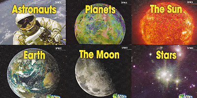 Space Fact Books For Children - 6 Books Stars Sun Moon Planets Earth & Astronaut