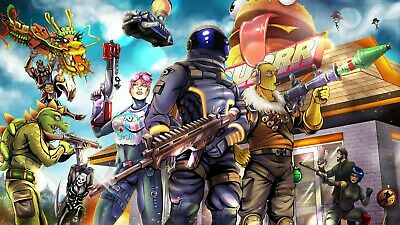 Fortnite Game Poster A3