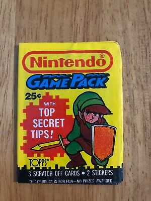 1989 Topps - NINTENDO GAME PACK - Version 2a (LINK) Unopened Wax Pack