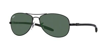 9129e3ca23 Authentic Ray-Ban RB8301 002 Black Frame Crystal Green Lens Size 59mm  Sunglasses