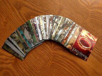 59 Topps Lord of the Rings Movie Trading Cards MINT, Movie Trivia Cards