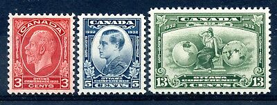 Weeda Canada 192-194 Fresh VF MNH KGV Imperial Economic Conference issue CV $52