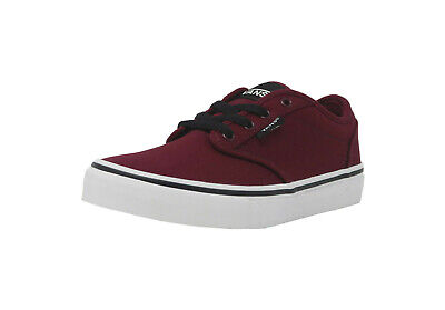 fa06a28e0ee30 VANS ATWOOD CANVAS Burgundy Black White Skate Sneakers Kid Youth Boy Shoes