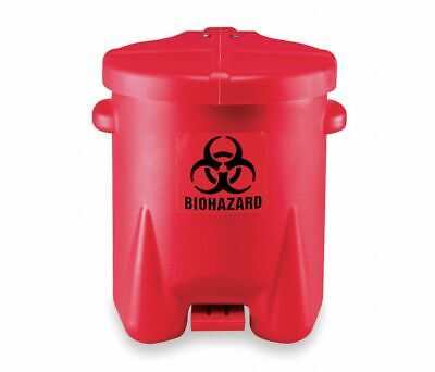 Biohazard Step On Waste Container Red EAGLE 947BIO 4RF67