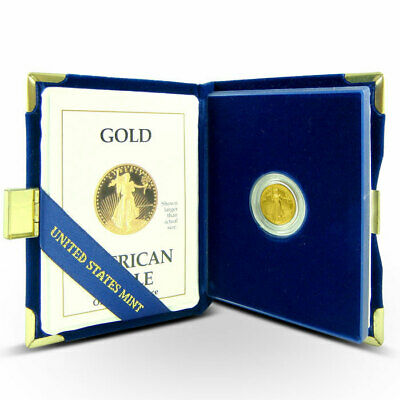 1/10 Troy Oz American $5 Proof Gold Eagle Coin with Complete OGP/Box/COA