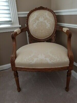 Antique Chair Beautul Carved Wood