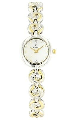 Bulova Women's Quartz Mother of Pearl Dial Two-Tone 20mm Watch 98P003