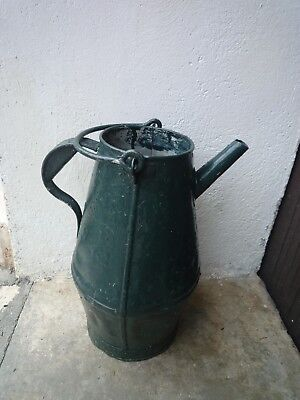 ancien grand pot a lait de ferme   en aluminium