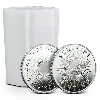 Tube of 20 - Sunshine 1 oz Silver Round | Mintmark SI
