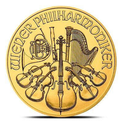 2019 Austrian 1 oz .9999 Fine Gold Philharmonic Coin - Gem Uncirculated (BU)