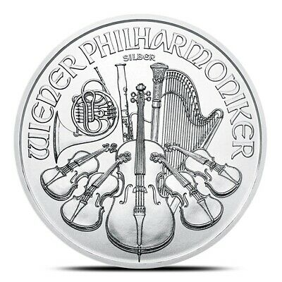 2019 1 oz Silver Austrian Philharmonic Coin .999 Fine - Gem Uncirculated (BU)