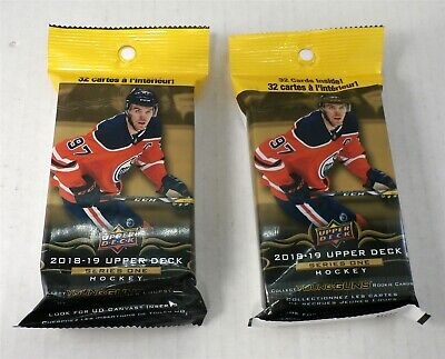 Upper Deck 2018/19 Series 1 NHL Hockey Pack with 32 Cards - Lot of 2