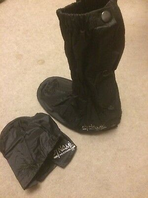 Dynamic Waterproof Motorcycle Motorbike Over Boots Size Small