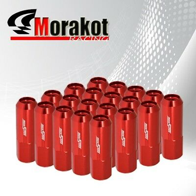 20 Piece Wheels Rims M12 x1.5mm Thread Pthch 60mm Long Extended Lug Nuts Red