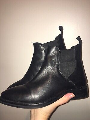 816a2c40b11 LLOYD BLACK LEATHER Ladies Chelsea Boot With Brogue Detail - £18.00 ...