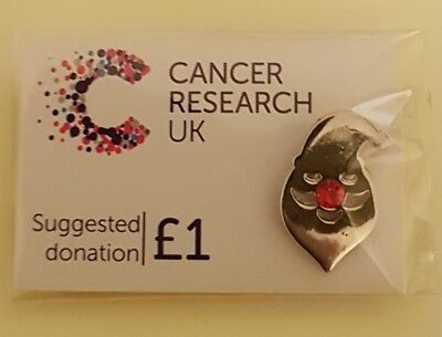 "Brand New & Sealed""Cancer Research UK Santa Claus"" Pin Badge(SAME DAY DISPATCH)"