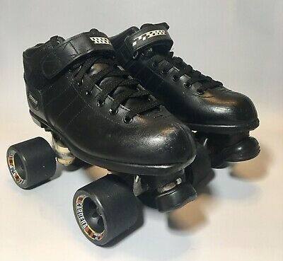 7046b8156b6 RIEDELL CARRERA MEN S Leather Speed Roller Skates Quad Sure Grip 96A ...
