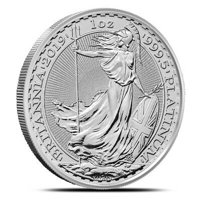2019 Great Britain UK 1 Oz Platinum £100 Britannia Coin - Gem Uncirculated