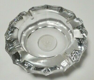 Vintage United States Eagle 1887 Etched Lead Crystal Glass Ashtray