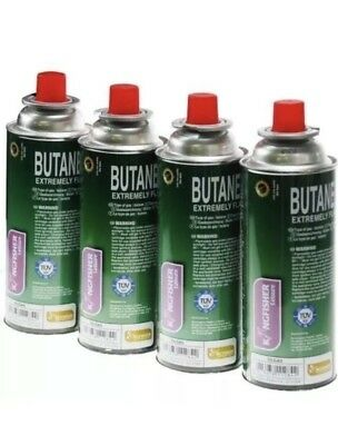 BUTANE GAS CAN CANISTERS BOTTLES PORTABLE STOVES HEATERS FLAMES COOK 4x 220g