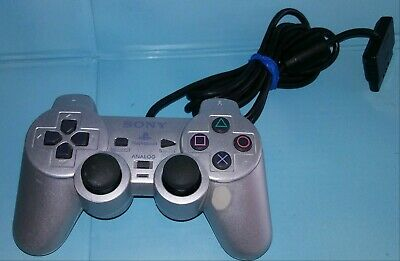 Official PS2 Silver Dualshock 2 Controller OEM Original Sony PlayStation 2