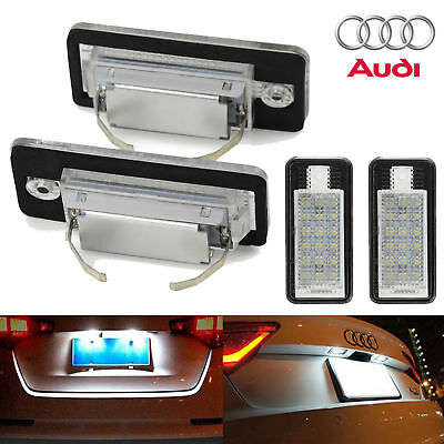 2Pcs 3W 12V 18 LED License Number Plate Light Rear Canbus For Audi A4 A6 S3 S6
