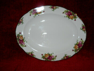 "Royal Albert Bone China Old Country Roses Oval Serving platter 13 3/4"" x 10 3/4"""