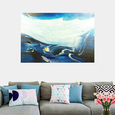 *Abstract Glacier* Hand Painted Art Canvas Oil Painting Modern Home Decor Framed