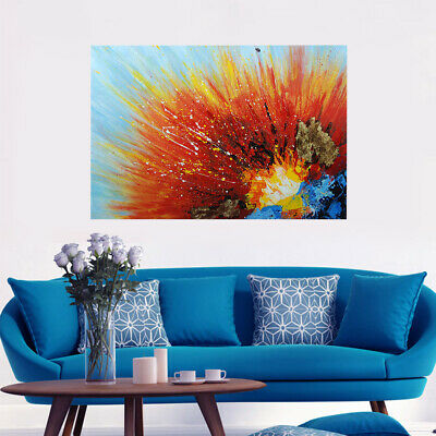 Modern Abstract Hand Painted Oil Painting Canvas Wall Art Decor Framed Volcanic