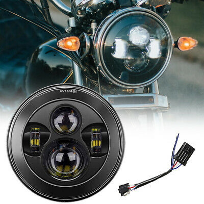 Slim Motorcycle 7Inch CREE LED Headlight Lamp Projector HiLo For Harley Davidson