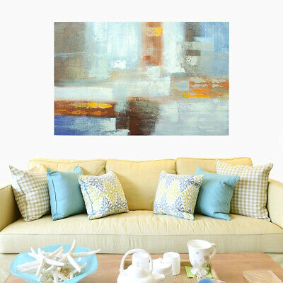 Modern Abstract Hand Painted Art Oil Painting Wall Decor Canvas (With Frame)