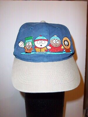 22dd4e10f85 Comedy Central 1998 South Park Hat Adjustable Strap Embroidered Characters