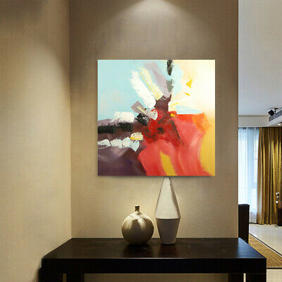 Modern Abstract Hand Painted Art Canvas Oil Painting Wall Home Decor Framed