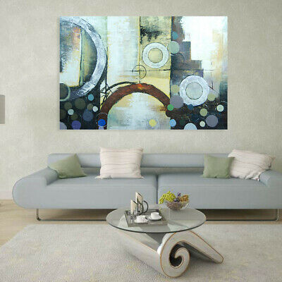 Modern Abstract Hand Painted Art Canvas Oil Painting Wall Decor Framed Dreamland