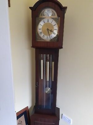 Tempus fugit Grandmother clock case immaculate Fully working5ft 10 tall Deliver
